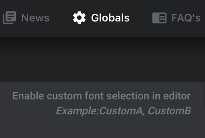 Adding Custom Font in Globals Settings in Slider Revolution